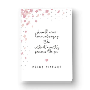 Pretty Petals Blush Will You Be My Flower Girl Card