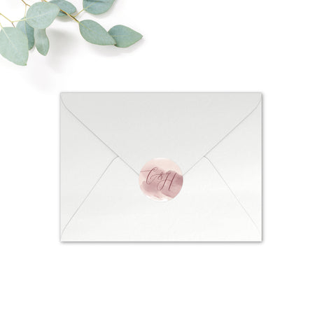 Protea Personalised Round Wedding Seal Stickers for Envelopes