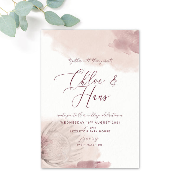 Protea Personalised Invitation Bundle