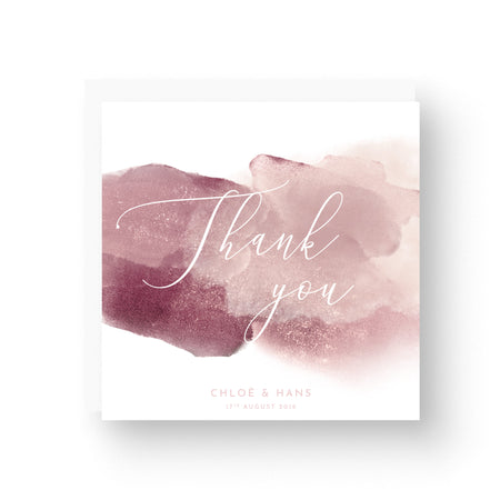Protea Personalised Thank You Card - Square