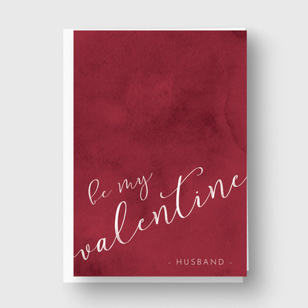 Red Velvet Personalised Valentines Card