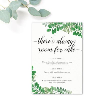 Richmond Wedding Cake Menu Sign / Print