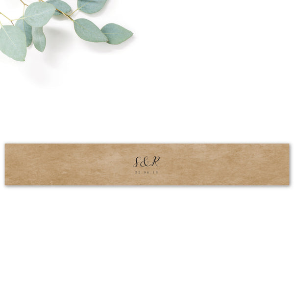 Richmond Greenery Wedding Invitation Belly Band Kraft