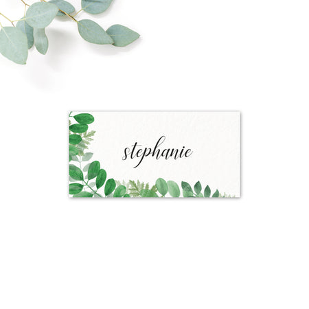 Richmond Greenery Wedding Foliage Place Card