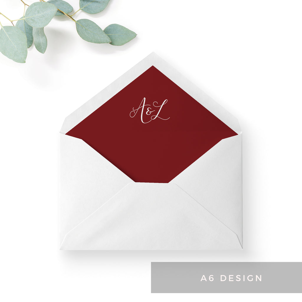 Ruby Envelope Liners – The Stationery Garden