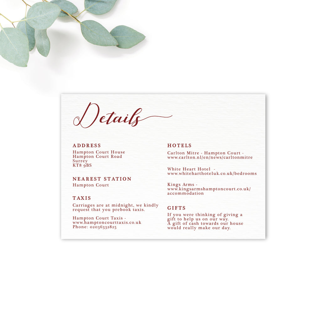 ruby personalised invitation bundle the stationery garden