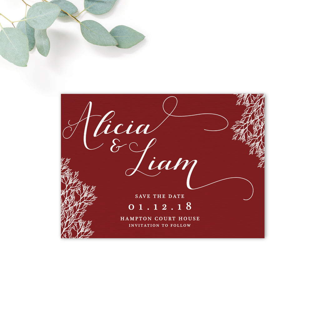Ruby Personalised Save the Date – The Stationery Garden