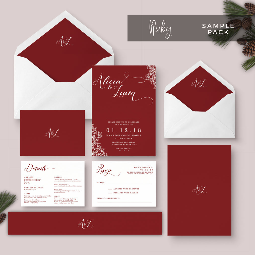 Wedding Stationery Sample Pack – The Stationery Garden