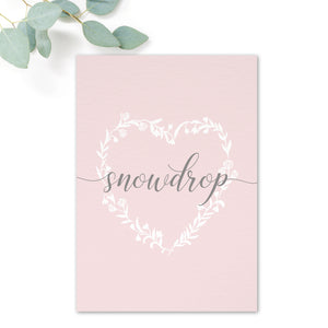 Snowdrop Wedding Table Names