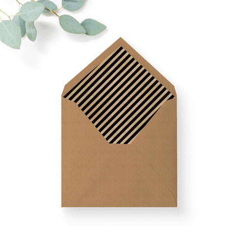Southbank Kraft Stripe Envelope Liner