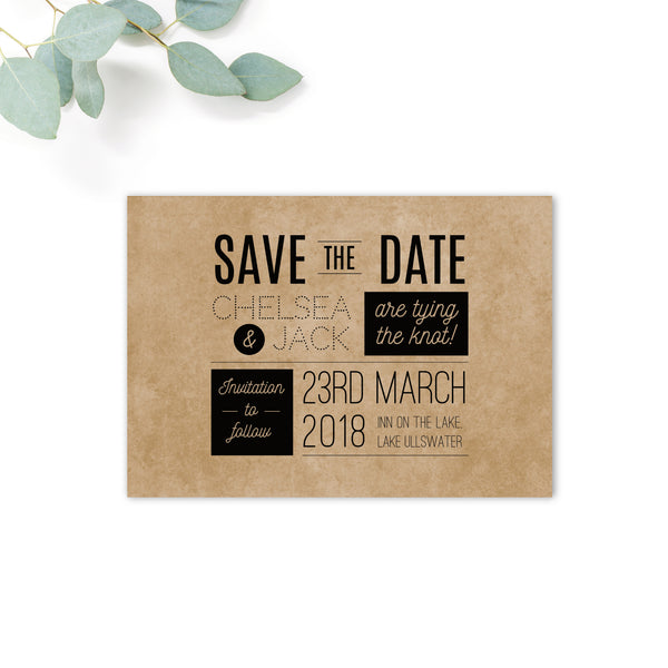 Southbank Kraft Wedding Save the Date Card
