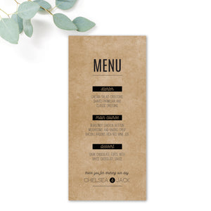 Southbank Wedding Menus