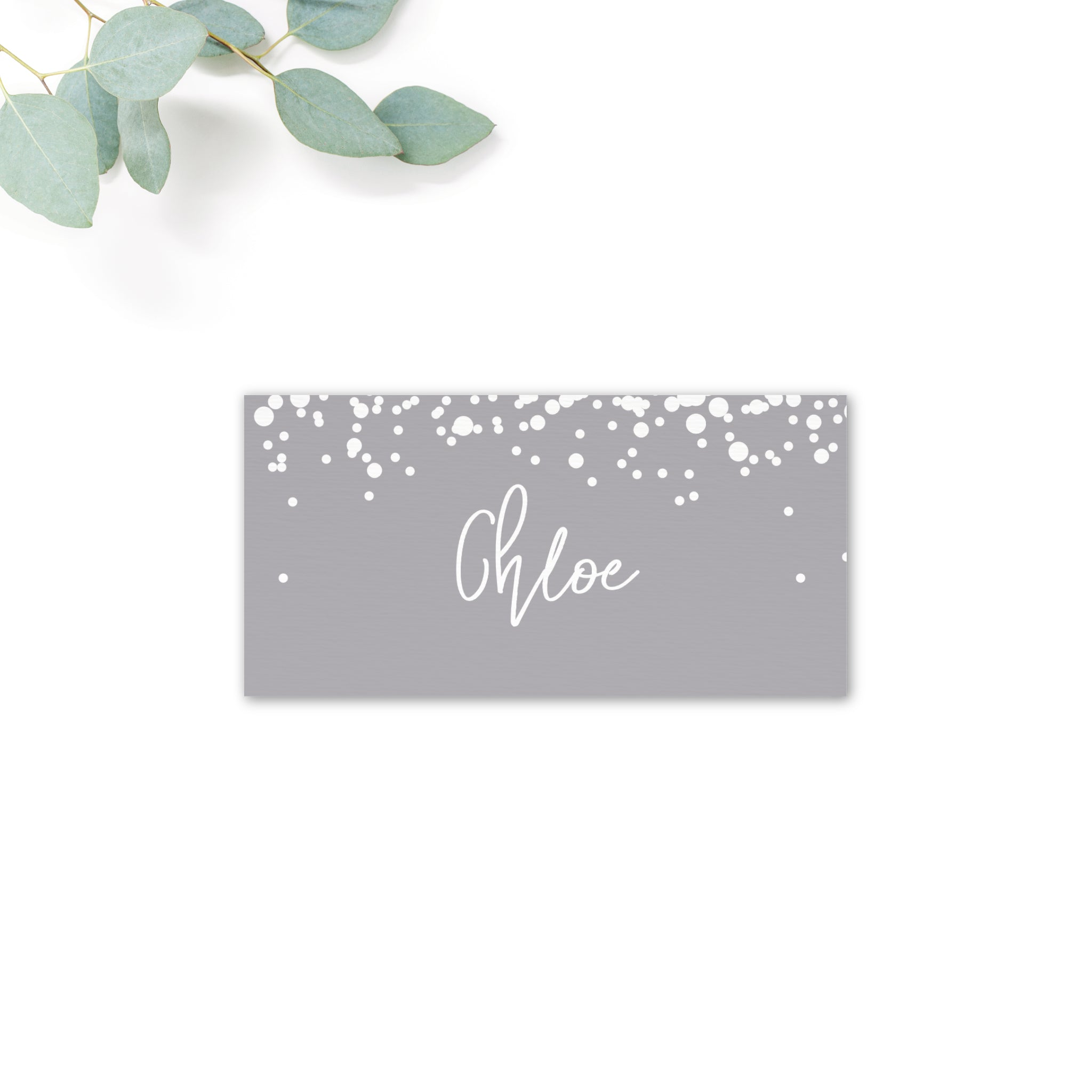 Stardust Grey Wedding Place Card