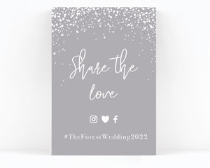Stardust Wedding Hashtag Sign / Print