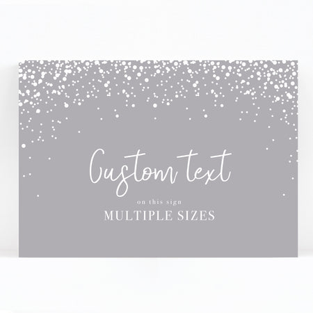 Stardust Grey Wedding Sign