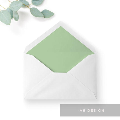 Summer-Greenery-Wedding Stationery Envelope Liners