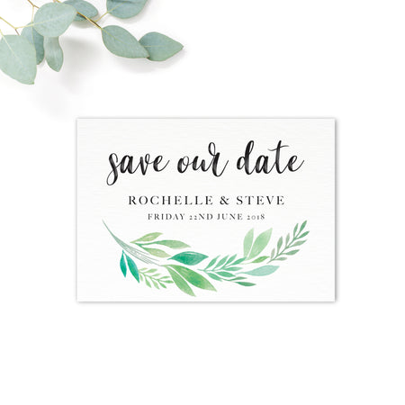 Summer-Greenery-Save the Date-Reverse