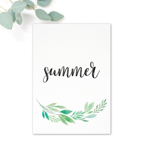 Summer Green White Foliage Table Names