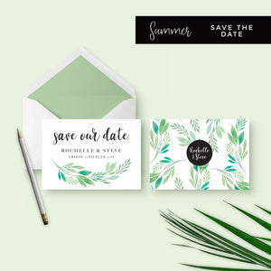 Summer-Greenery-Save the Date-Suite