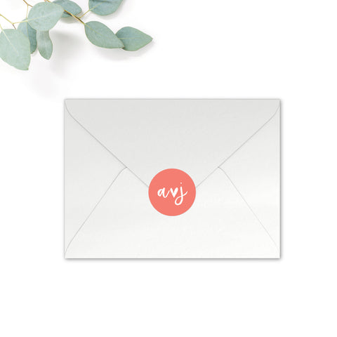 Taylor Personalised Round Wedding Seal Stickers for Envelopes