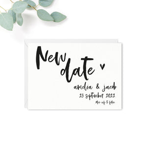 Taylor Personalised Wedding Postponement Card