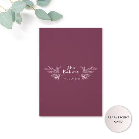 Winter Personalised Save the Date