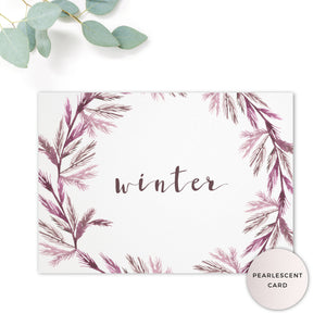 Winter Wedding Table Names
