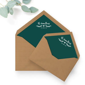 Woodland Emerald Green Kraft Envelope Liners