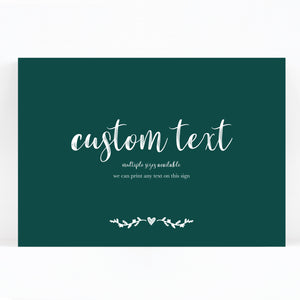 Woodland Custom Wedding Sign / Print