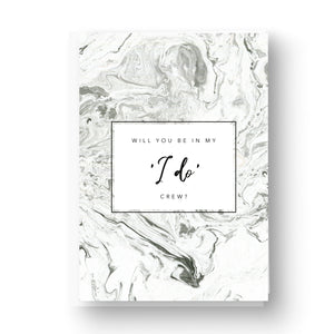 Will you be in my i do crew grey marble card