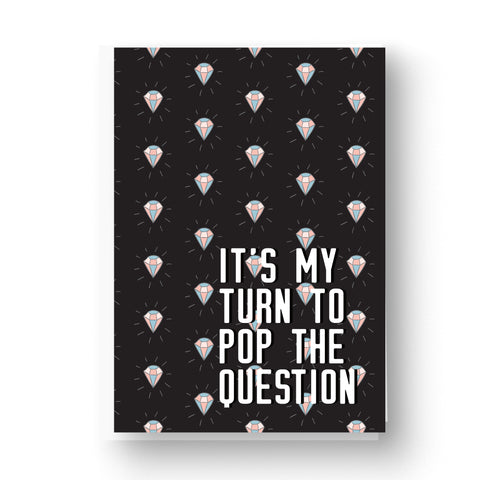 Black 'Pop the Question' Bridesmaid / Maid of Honour Card