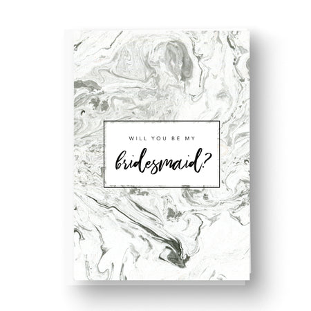 Grey Marble Will you be my Bridesmaid / Maid of Honour Card