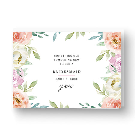 Something Floral Bridesmaid / Maid of Honour Card