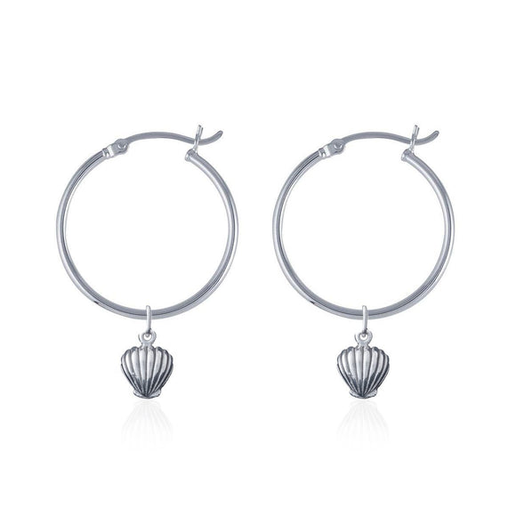 LA LUNA SHELL HOOP EARRINGS - Corner Surf Shop