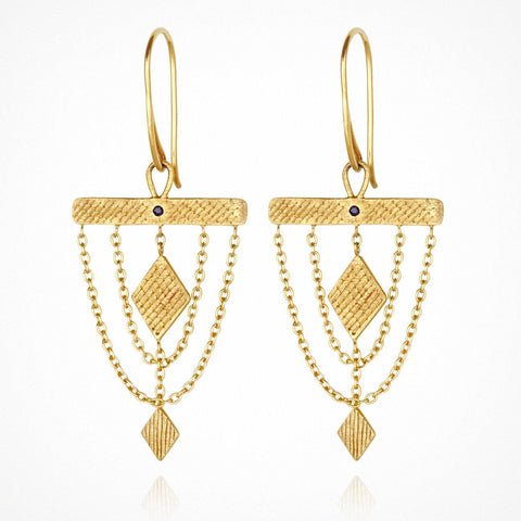 TEMPLE OF THE SUN ARA EARRINGS