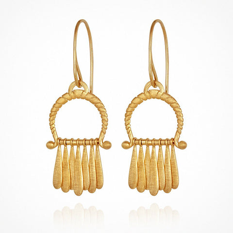 TEMPLE OF THE SUN ARC EARRINGS