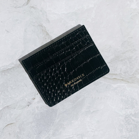 NAKEDVICE THE LOLA CROC CARD HOLDER