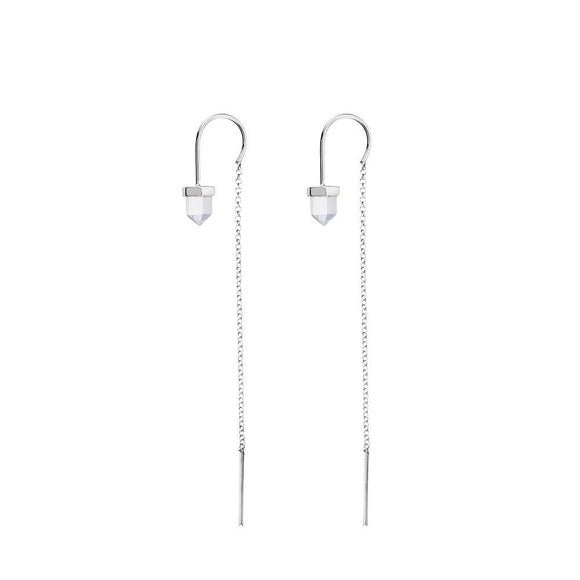 KRYSTLE KNIGHT HOPE CHAIN CRYSTAL EARRINGS - Corner Surf Shop
