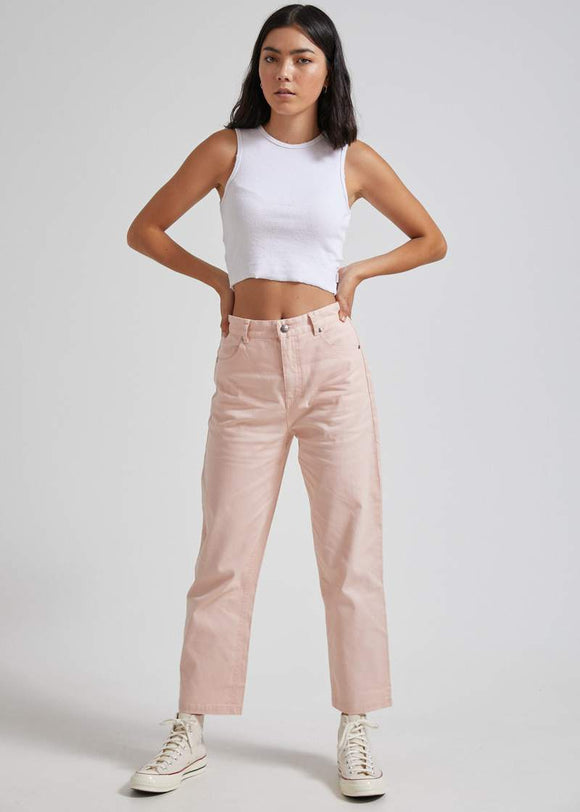 AFENDS SHELBY HEMP HIGH WAISTED WIDE LEG PANT