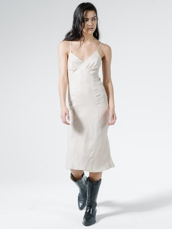 THRILLS ESTATE MIDI SLIP DRESS
