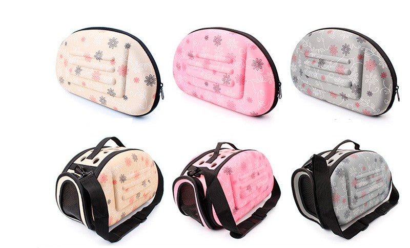 Beautiful Floral Dog Carrier - Soft, Breathable and Folds Up!