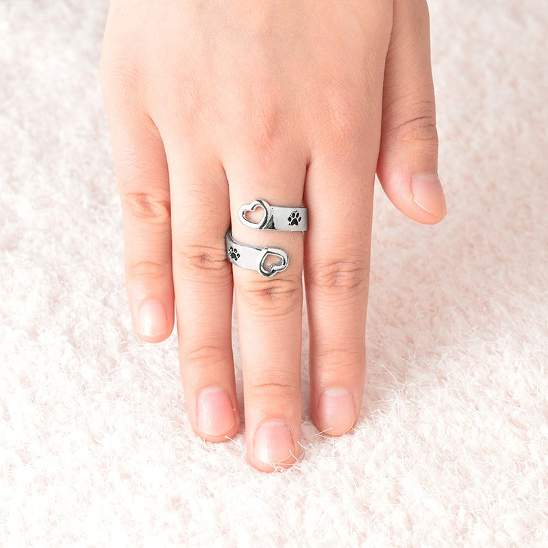 I Will Love You Forever Dog Paw Ring