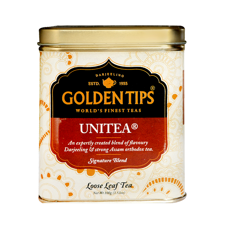 Unitea Tin Can 100 Gm - Golden Tips