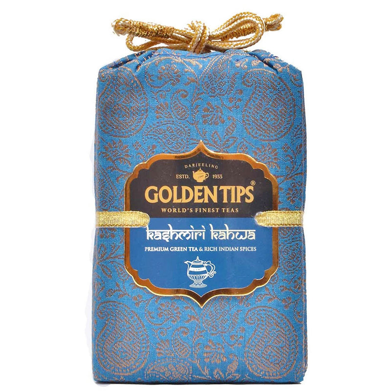 Kashmiri Kahwa - Royal Brocade Cloth Bag - Golden Tips
