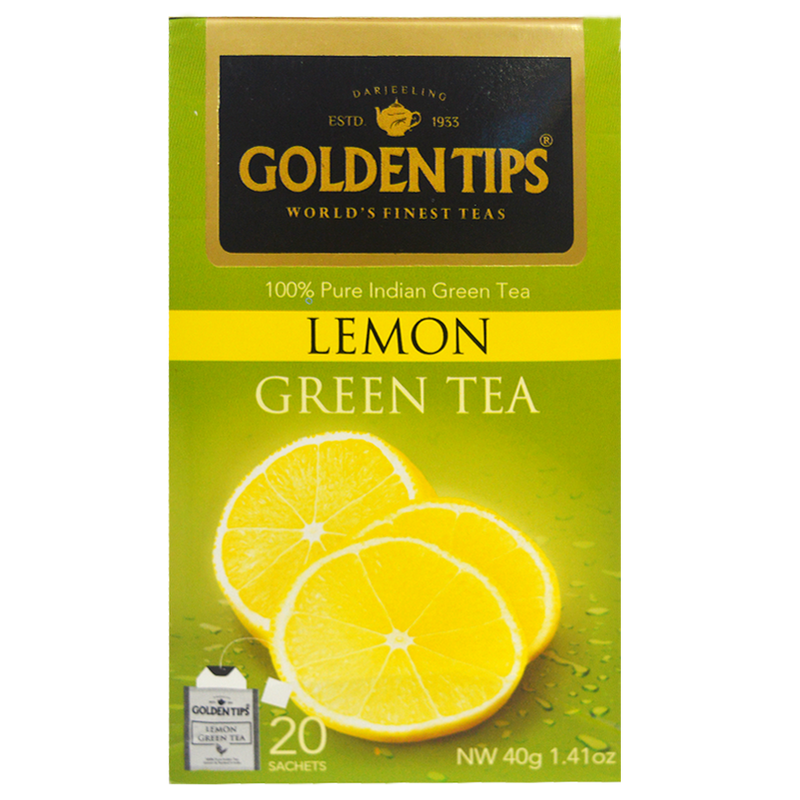 Lemon Green Envelope Tea - 20 Tea Bags (40gm) - Pack of 4