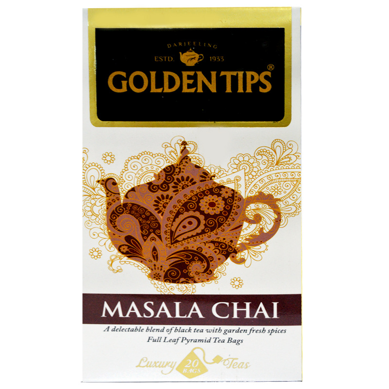 Masala Chai Full Leaf Pyramid - 20 Tea Bags, 40g - Pack of 2