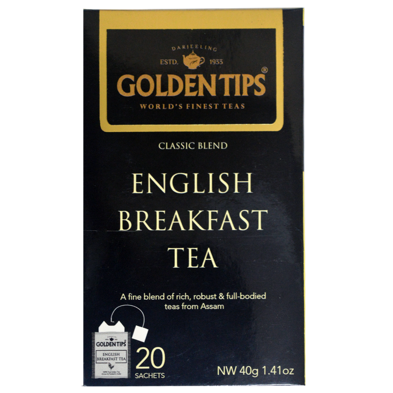 English Breakfast Envelope Tea - 20 Tea Bags (40gm) - Pack of 4