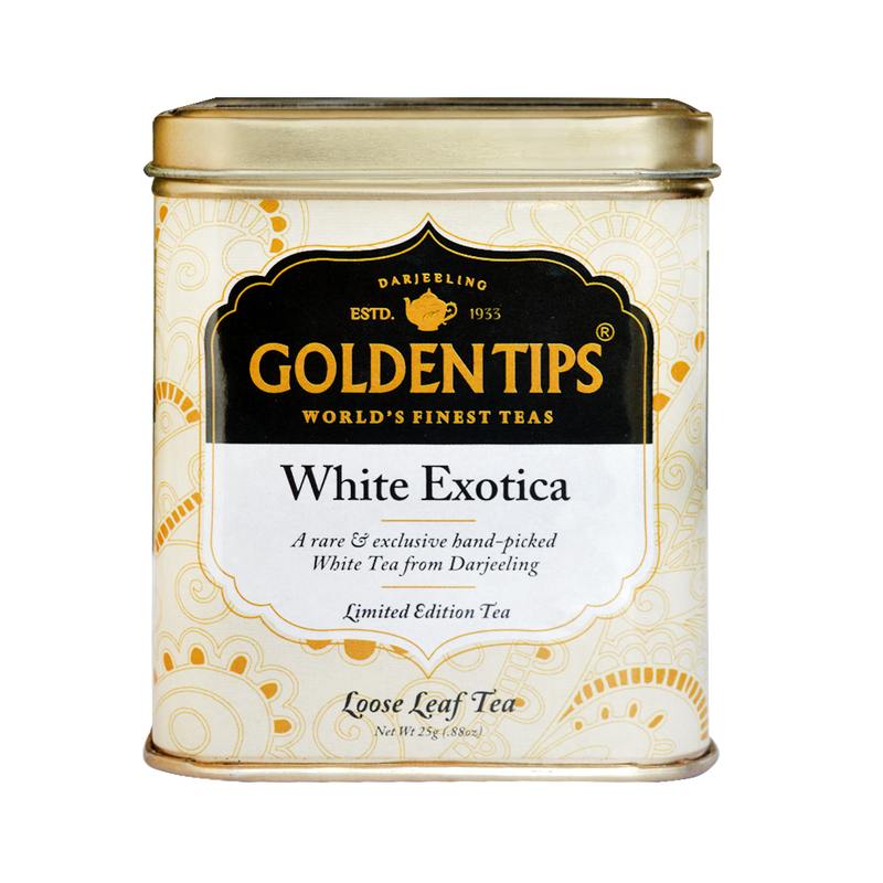 White Exotica Tea Tin Can (25gm)