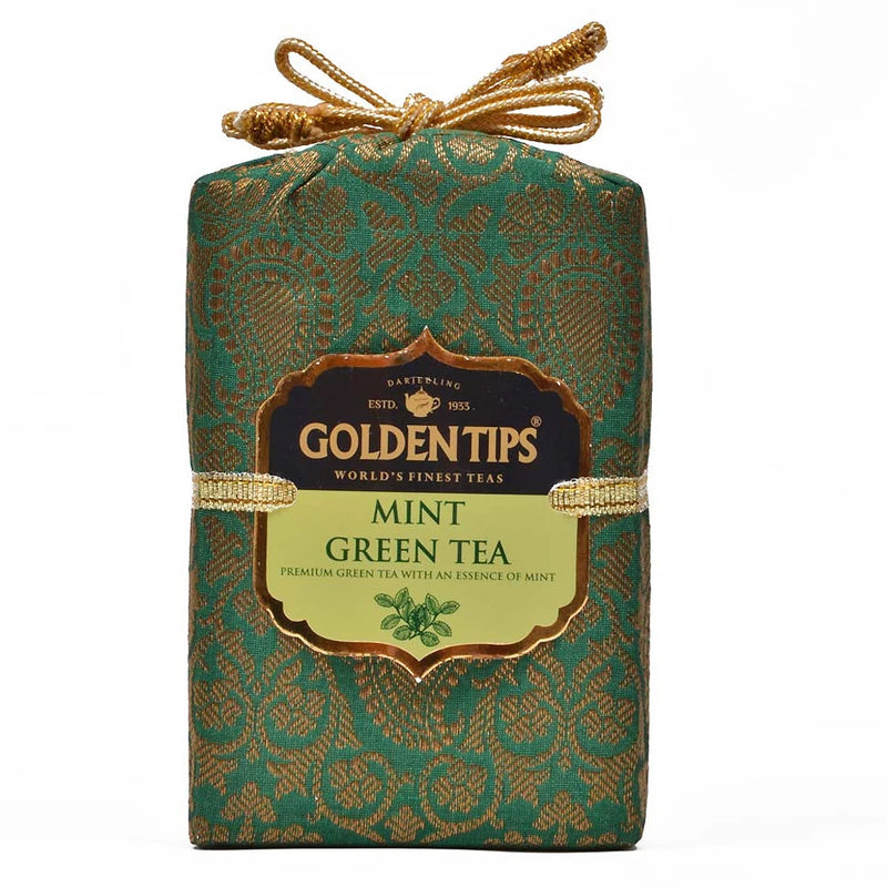 Mint Green Tea - Royal Brocade Cloth Bag