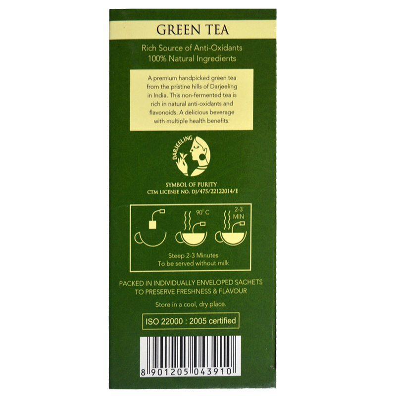 Pure Green Envelope Tea - 20 Tea Bags (40gm) - Pack of 4